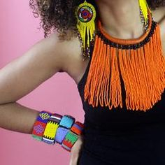 These Zulu beaded bracelets look fabulous in their different color combinations. Open at one end so they easily fit every wrist. Zulu Women, Black Marriage, Beaded Jewelry, Beaded Bracelets, Color Meanings, Beaded Embroidery, Color Combinations, Different Colors, Pink