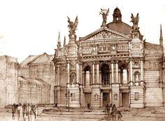 Architectural drawings by Maja Wrońska