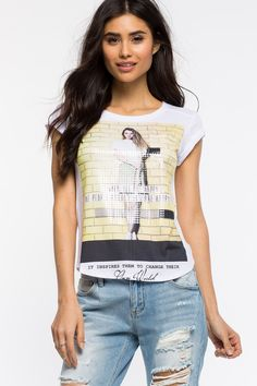 Women's Graphic Tees   When You Are Happy Tee   A'GACI