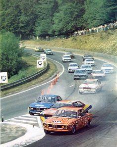Championnat de France des voitures de production - premier tour a Rouen Les Essarts - sport-auto septembre 1976.