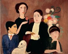Marie Laurencin, Group of Artists (1908) Picasso, Laurencin, Apollinaire, and Fernande Olivier.