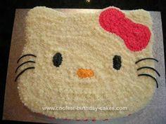Homemade Hello Kitty Birthday Cake - Evie's request