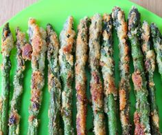 Crispy Asparagus Fries - perfectly delicious snack or vegetable side.