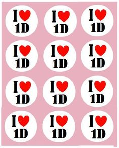 """12 I Love 1D Toppers One Direction rice paper fairy / cup cake 40mm pre cut decoration - Edible paper cake toppers are the easiest and very best way to give your fairy or cup cakes that final finishing touch . You make the cakes Let us """"Simply Topp"""" It for you.  - http://irishcakesupplies.com/wp-content/uploads/2013/12/51MKymy7msL.jpg - #12, #1D, #Direction, #FAIRY, #I, #Love, #One, #Paper, #Rice, #Toppers  - http://wp.me/p2Sdif-4uX"""