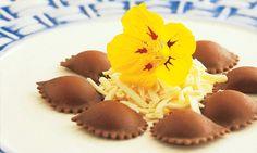 Ravióli de chocolate