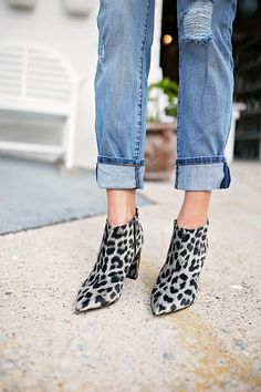 The perfect animal print bootie - click through to see the whole look!