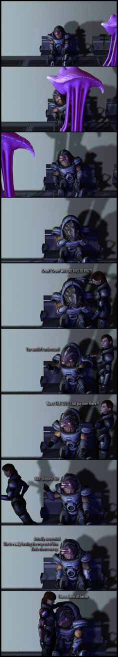 Shepard's a woman with a plan. They're generally not good plans, but still... --- <-- Back   First   All   Next --> --- All I did was just extract the models from Mass Effect's PC assets, bri...