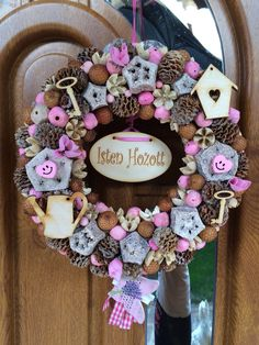 Welcome wreath Welcome Wreath, Wreaths, Fall, Summer, Projects, Home Decor, Autumn, Log Projects, Summer Time