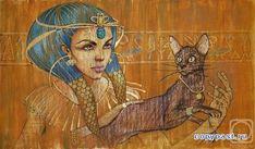 Женщина и кошка в ратботах Фаттах Абдель Галла