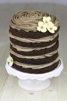 Objetivo: Cupcake Perfecto.: (Mega) layer cake de chocolate negro con nutella para celebrar que ¡¡¡ya ha salido mi libro a la venta!!!