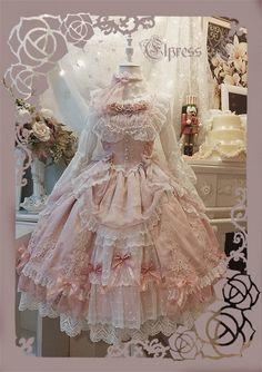 Elpress L -An Ode To Love- Lolita Jumper Dress,Lolita Dresses, Trendy Dresses, Fall Dresses, Cute Dresses, Vintage Dresses, Beautiful Dresses, Cute Outfits, Flower Girl Dresses, Wedding Dresses, Harajuku Fashion