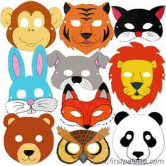 Actividades para Educación Infantil: 12 máscaras de animales