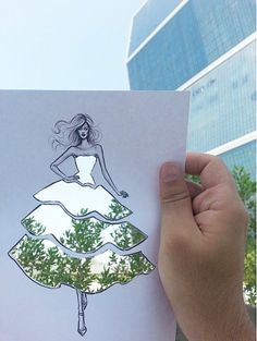 Amazing Artist Uses Beautiful Everyday Scenes To Complete His Sketches | YouArts