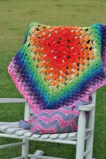 One large granny square blanket