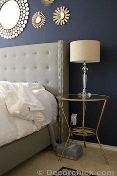 valspar indigo streamer for guest bathroom half white beadboard and half dark blue bedtime. Black Bedroom Furniture Sets. Home Design Ideas