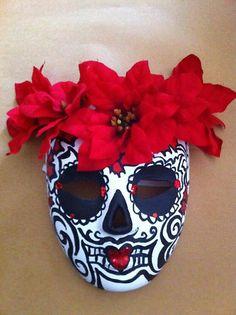 custom Sugar Skull mask by Suzi Linden for Dia de los Muertos