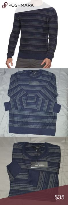 Cyber Monday! Marc Anthony sweater slim fit gray, black and a little blue Marc Anthony Sweaters Crewneck