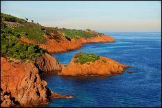 Massif de l'Esterel, France Cannes, Provence, Theoule Sur Mer, Sud Est, Villa, France, French Riviera, Places Ive Been, Scenery