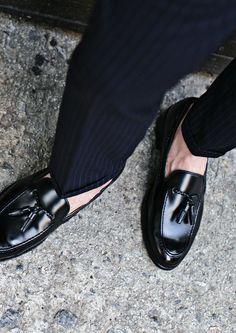 Classic Black Tassel Loafer. #shoes #menshoes #menfashion #strunway