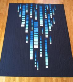 This is amazing    A Few Scraps: A Monochromatic Quilt: Construction, Quilting and Reveal