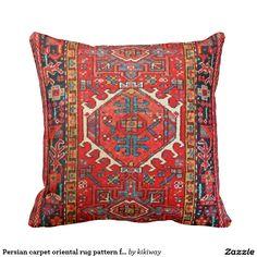 Persian carpet oriental rug pattern from Iran Pillow