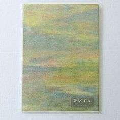 刷毛目白&薄様・柳しぼり染 便箋セット 20枚+5枚入 グリーンイエロー - WACCA ONLINESHOP