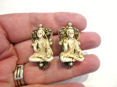 Vintage Asian Goddess Temple Scatter Pins 2 Pin Lot by SoBejeweled