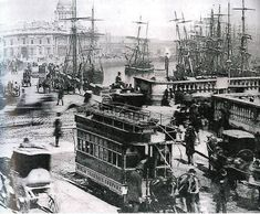 Good images on the journal about the old Dublin tram lines Here's how Dublin was served by trams over 100 years ago A little snippet of history. Dublin Street, Dublin City, Jules Verne, Old Pictures, Old Photos, Vintage Photos, Irish Independence, Photo Engraving, Dublin Ireland