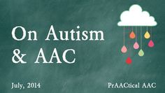 On Autism and AAC