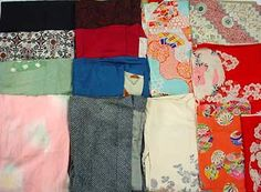Vintage Silk, Silk blends and Some Mock-Silk Synthetic Blends  Wholesale Kimono & Kimono Fabrics Sold as Fabric, by-pound
