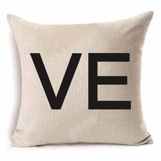 Mr & Mrs. Print Series Throw Pillow Cover