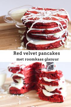 Red Velvet Recept, No Bake Snacks, Baking Snacks, Date Recipes, Food Goals, Pancakes And Waffles, Food Blogs, Cakes And More, Yummy Cakes