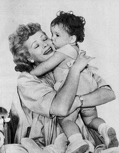 Lucille Ball w/ her son Desi Arnaz Jr. (again)