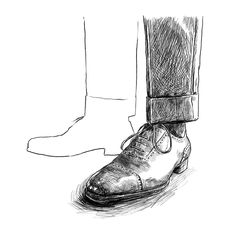 Do you think @jonnyleighart should complete and color this illustration of my Saint Crispin adelaides? Leave a comment and let him know! I love Jonny's illustrations and in particular I like how he draws shoes. So I'm honored that he started an illustration based on a shot of mine. Pictured in the shot on which this drawing is based: @saintcrispins oxfords from @leffot in a beautiful golden brown color and olive cavalry twill @rotapantaloni trousers. . . . . . . . #linedrawing #illustration…