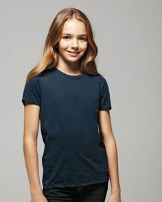 This T-shirt feels so comfortable and fits so beautifully, girls will want one in each color.   Bella - Girls Short Sleeve Jersey T-Shirt - $5.68 ➜ clothingshoponline.com   #shop #wholesale #prices #blank #apparel #tshirt #supplier #discount #designer #brands #deals #clothing #youth