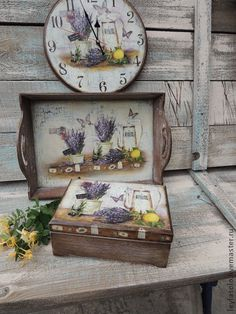 Buy Lavender tray – beige, tray, tray – Her Telden News Decoupage Wood, Decoupage Vintage, Paisley Art, Painted Trays, Fall Diy, Paint Furniture, Wood Boxes, Shabby Chic Furniture, Box Design