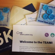 When you join TEAM.Water.org you'll receive a nice little package in the mail!