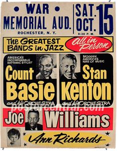 I will pay top dollar for vintage jazz concert posters from big bands and orchestras like Count Basie and Stan Kenton. Jazz Poster, Blue Poster, Jazz Concert, Concert Posters, Music Pics, Old Music, Festival Jazz, Jazz Artists, Jazz Musicians