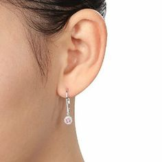 14K White Gold 1/3 CT TDW Round Pink and White Diamond Lever Back Earrings (G-H, I1-I2) Amour. $409.99. Save 50%!