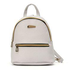 AEQUEEN Leather Backpack Women Student School Bag Backpacks For Teenage Girls Cute Rucksack Female Mini Book Bag Pack