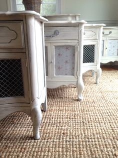My lovely French end tables