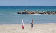 Beach handstand. Sitges