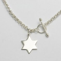 Classic Tiffany Style Star of David Necklace