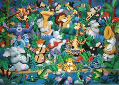 Image result for kids art jungle