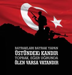 Terörü ve Destekçilerini Lanetliyoruz Turkey Flag, Turkish Army, Pakistani Dramas, Erdem, Cartoon Network, Activities For Kids, Illustration, Allah, Teaching