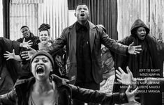 The cast, led by Mxolisi (Zuluboy) Majozi as Tsotsi Hip Hop Artists, January 2018, Award Winner, Musicals, Novels, It Cast, Led, Books, Fictional Characters