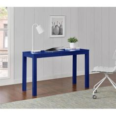 Altra Parsons XL Desk with 2 Drawers in Navy