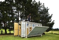 Low-Cost Container House by JYA-RRCHITECTS FEATURED PROJECT Low-cost Family Container Home in South Korea This family know how to save serious Won. They created a modern and bright container home using just three 20' shipping containers. A translucent skin provides extra space at a rock-bottom price...