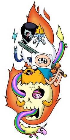 Whoa! This tatto is super math! How come we didn't get any :(  skronked:    this was a design i did for an Adventure time temporary tattoo freebee cartoon network was giving away last year.