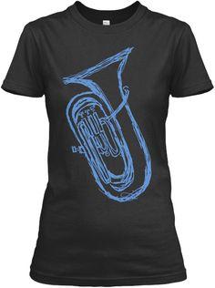 3456ecc430 Euphonium (Womens T Shirt) Black Women's T-Shirt Front Sweatshirt, Hoodie,